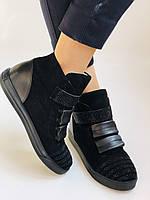 Женские ботинки. На скрытой танкетке. Натуральная кожа. Высокое качество. Berkonty. Р. 37,39,40. Vellena, фото 4