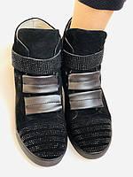 Женские ботинки. На скрытой танкетке. Натуральная кожа. Высокое качество. Berkonty. Р. 37,39,40. Vellena, фото 9