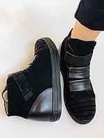 Женские ботинки. На скрытой танкетке. Натуральная кожа. Высокое качество. Berkonty. Р. 37,39,40. Vellena, фото 5