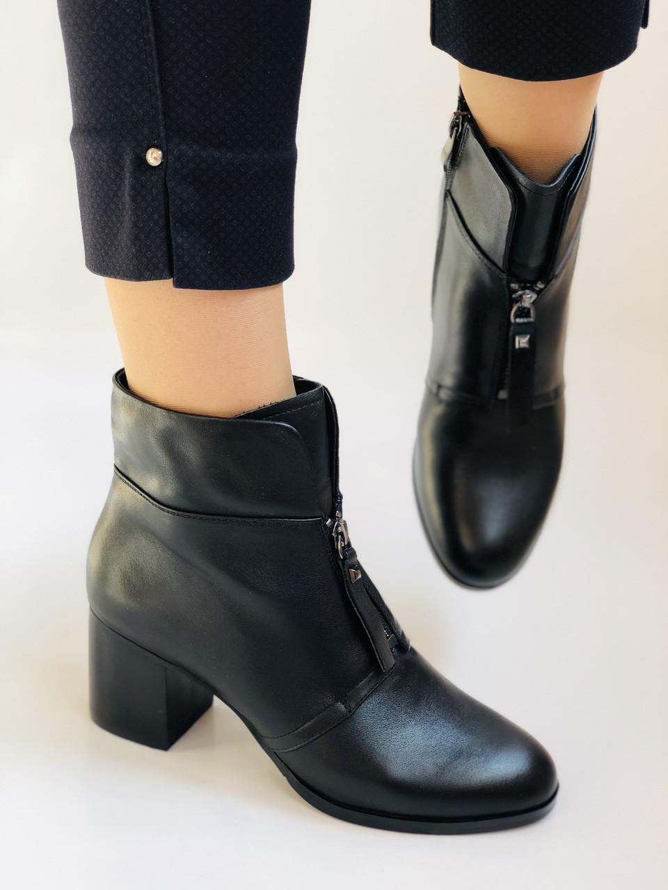 Качество! Женские осенне-весенние ботинки на среднем каблуке. Натуральная кожа. Р. 34-40 Visttaly