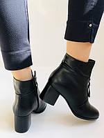Качество! Женские осенне-весенние ботинки на среднем каблуке. Натуральная кожа. Р. 34-40 Visttaly, фото 6