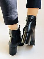 Качество! Женские осенне-весенние ботинки на среднем каблуке. Натуральная кожа. Р. 34-40 Visttaly, фото 2