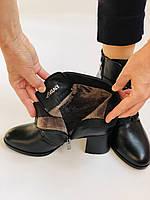 Качество! Женские осенне-весенние ботинки на среднем каблуке. Натуральная кожа. Р. 34-40 Visttaly, фото 10