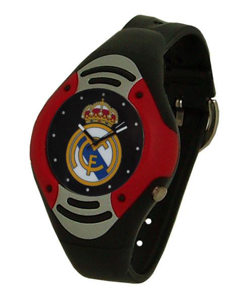 Дитячий наручний годинник для підлітків ФК Реал Мадрид, чорний циферблат.