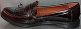 Туфли кожаные женские лоферы от производителя модель РИ0702, фото 3