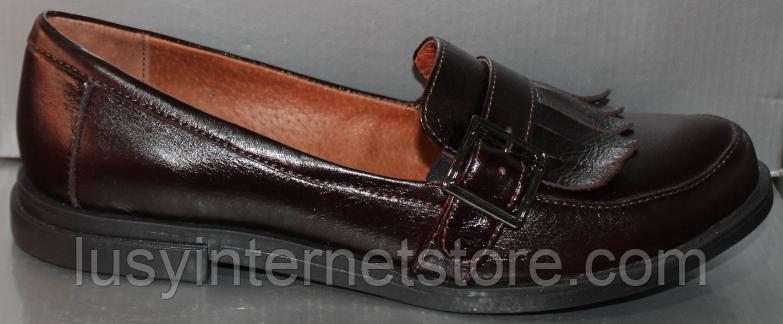 Туфли кожаные женские лоферы от производителя модель РИ0702