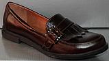 Туфли кожаные женские лоферы от производителя модель РИ0702, фото 2