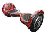 ГИРОСКУТЕР SMART BALANCE PREMIUM PRO 10 дюймів Wheel Червоне полум'я TaoTao APP автобаланс, гироборд, фото 2