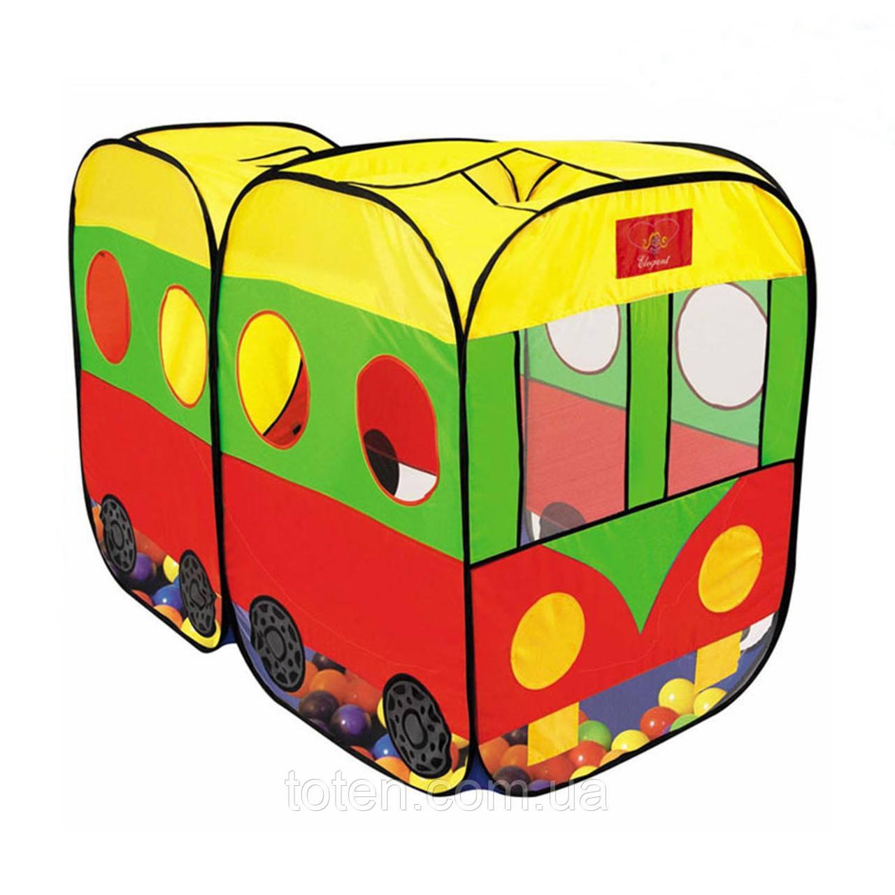 Палатка детская автобус 8027  Размер 140x73x96см
