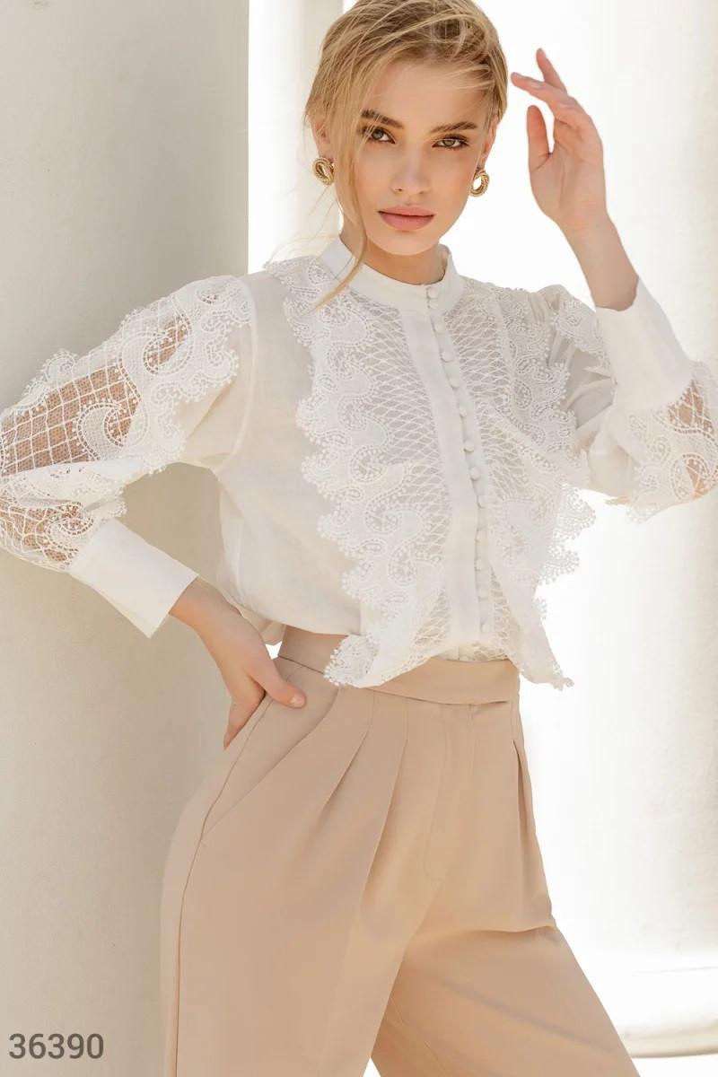 Елегантна біла блуза S,M,L