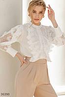 Елегантна біла блуза S,M,L, фото 1