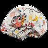 Детская простынь на резинке Солодкий Сон Совы Зигзаг 80х160см. Персиковый