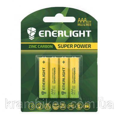Батарейка AA Enerlight - солевая Super Power R03 BLI