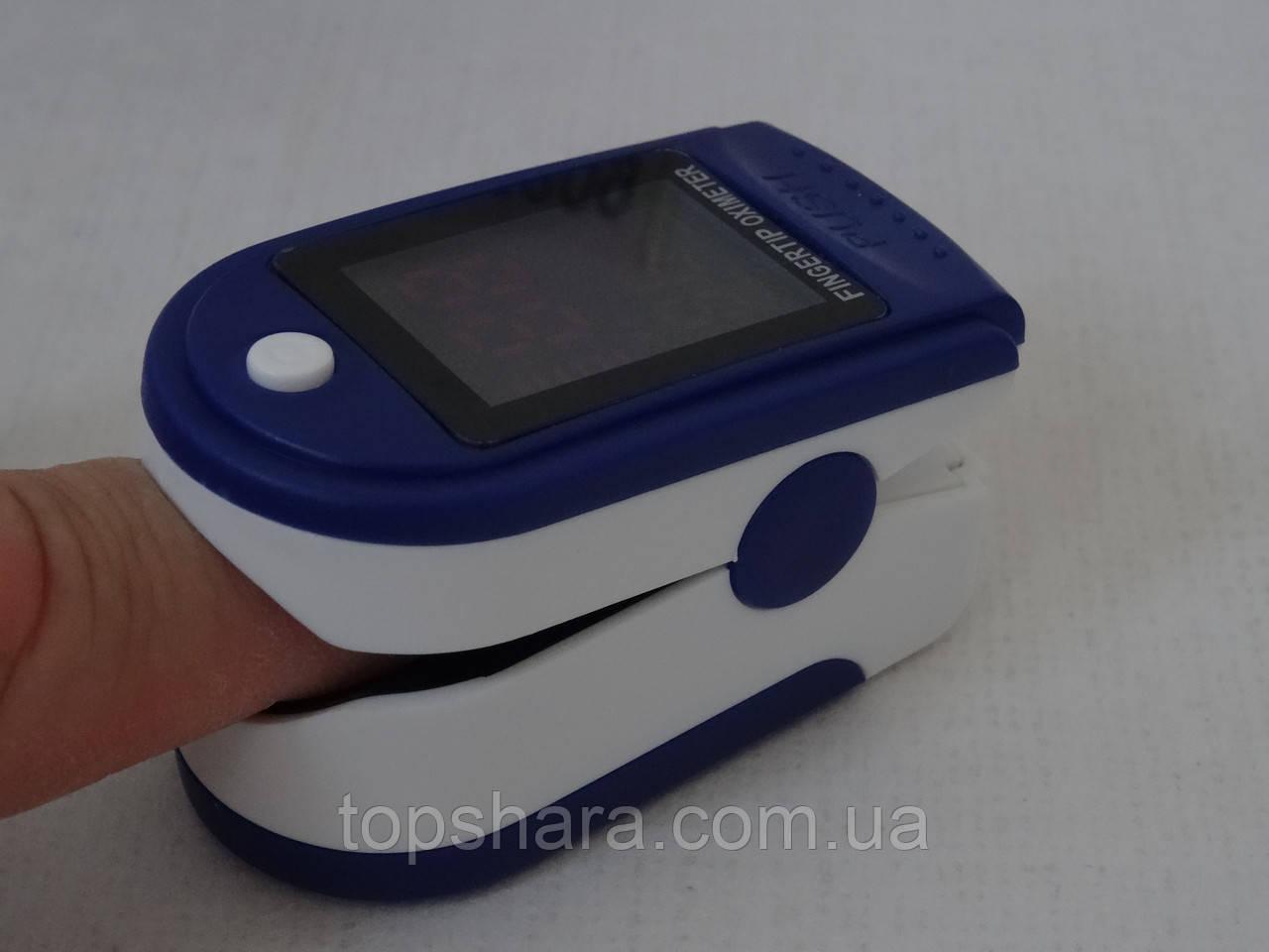 Пульсометр оксиметр на палец (пульсоксиметр) JZK302 White/Blue