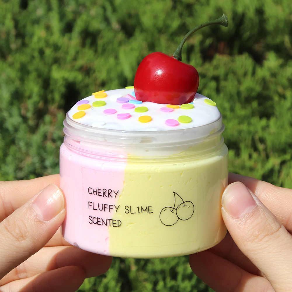 Cherry Fluffy slime / Вишневый слайм Мини (25г)