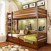 Кровать двухъярусная деревянная Дуэт (бук), фото 3