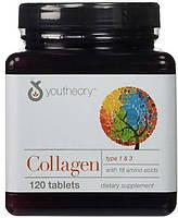 Коллаген Youtheory 120 таблеток. В 1 таблетке 1000 мг. Сделано в США.