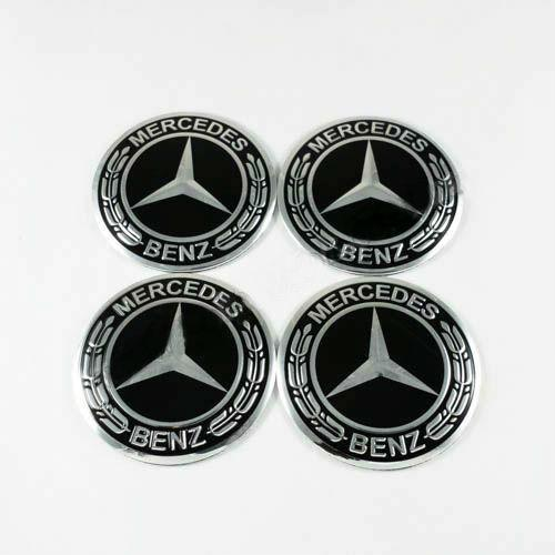 Наклейки на колпачки Mercedes-Benz нов. обр. черные 56 мм