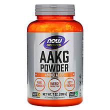 """Аргинин альфа-кетоглутарат NOW Foods, Sports """"AAKG Pure Powder"""" в порошке (198 г)"""