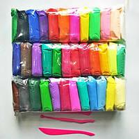 Масса тесто для лепки 36 цветов моделин, воздушный пластилин