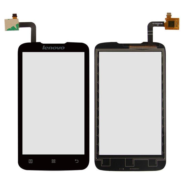 Сенсорный экран (тачскрин) Lenovo A316 | A316i чёрный