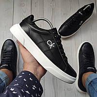 Calvin Klein (ck-15) Мужские кожаные кеды (туфли)мужская обувь полностью из натуральной кожи philipp plein