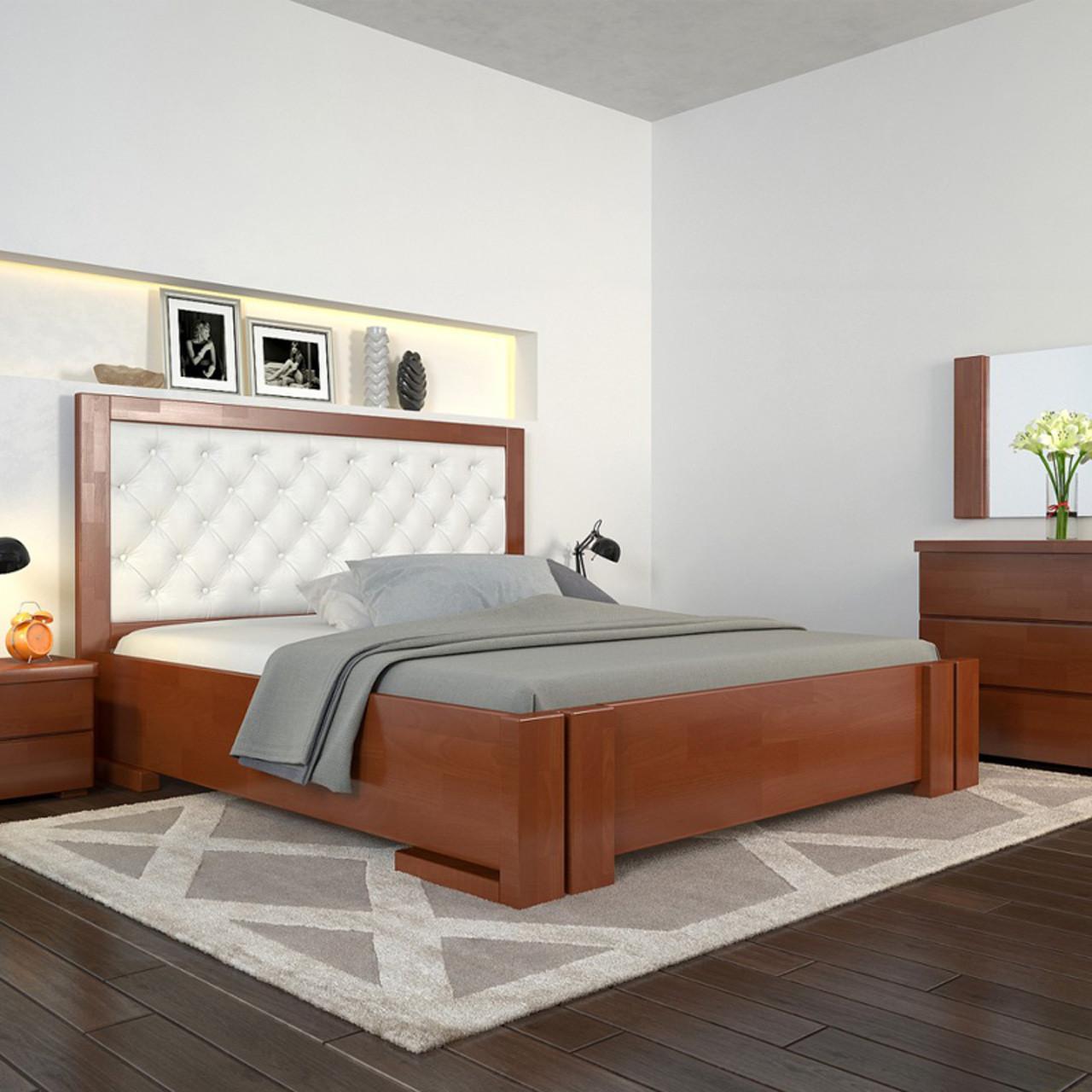Кровать деревянная двуспальная Амбер