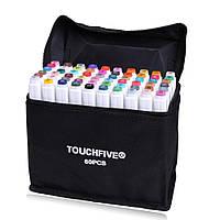 Маркеры TouchFive T5 60 шт палитра студент 3007-0007