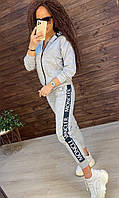 Сірий спортивний костюм на блискавці, фото 1