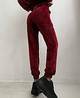 Жіночий костюм стильний з велюру з укороченою кофтою (Норма), фото 8
