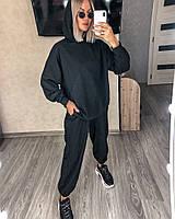 Стильный женский спортивный костюм с топом,брюками и худи (Норма), фото 4