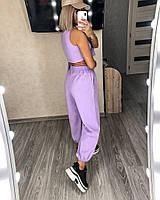 Стильный женский спортивный костюм с топом,брюками и худи (Норма), фото 5
