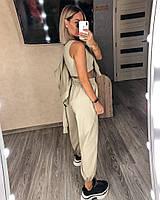 Стильный женский спортивный костюм с топом,брюками и худи (Норма), фото 8