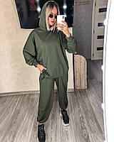 Стильный женский спортивный костюм с топом,брюками и худи (Норма), фото 9