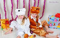 Карнавальный костюм белой и коричневой мышки