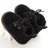 Теплые пинетки-ботиночки 12 см., фото 2