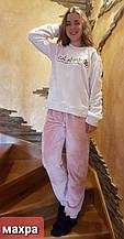 Пижама махровая кофейного цвета
