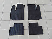 Коврики в салон резиновые для Fiat Doblo 2001-2010, Polytep, комплект 4шт
