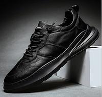 Кроссовки туфли осенние черные, фото 1