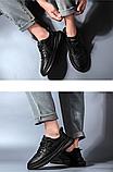 Кроссовки туфли осенние черные, фото 4