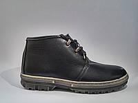 Кожаные мужские удобные модные стильные черные зимние ботинки 40 Broni