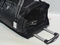 Дорожная сумочка на колесах серая, фото 1