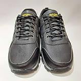 Мужские кроссовки р. 41,43 Sport fashion / искусственная кожа  / Черные, фото 5