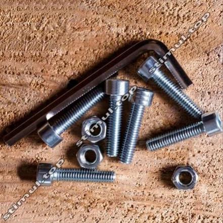 Болт с внутренним шестигранником Ø 6х65 мм ➜ 100 штук/упак ➜ Винт DIN 912 имбус