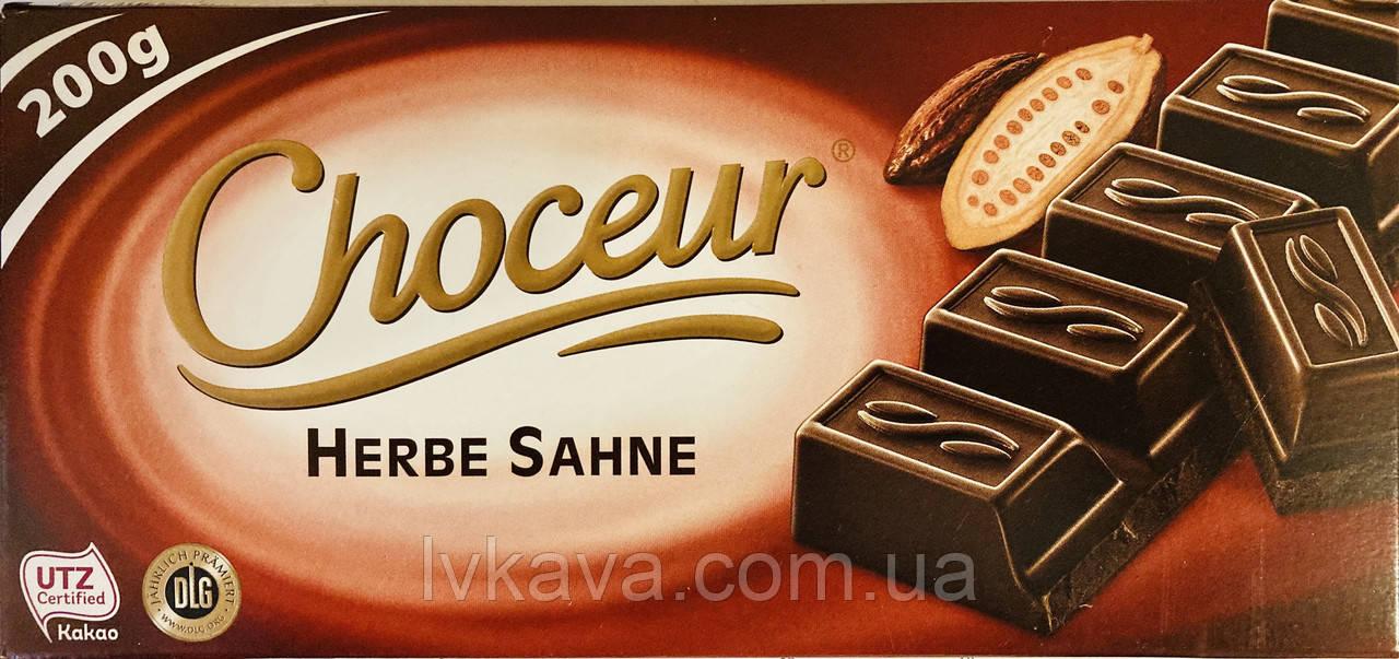 Черный шоколад  Choceur Herbe Sahne , 200 гр