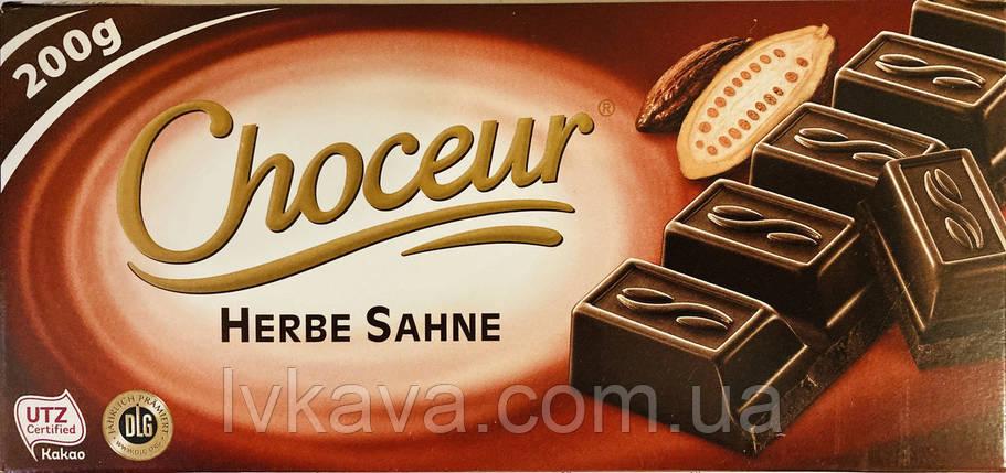 Черный шоколад  Choceur Herbe Sahne , 200 гр, фото 2