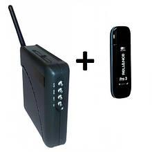 3G модем ZTE AC3633 с антенным разъемом + WiFi-роутер Unefon MX-001