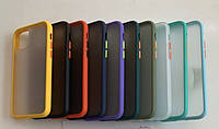 Чехол накладка Goospery Case для iPhone XR матовый с цветными кнопками айфон икс р