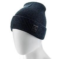 Молодежная зимняя шапка ATRICS MH726 Универсальный Темносиняя-мулине