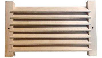 Вентиляционная решетка для бани и сауны, липа